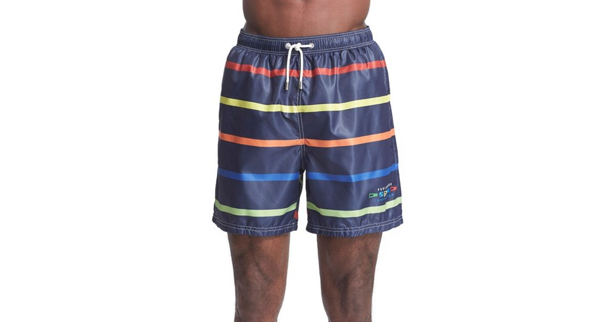 bbe7312cf3 Paul & Shark 'competition Collection' Stripe Swim Trunks in Blue for Men -  Lyst
