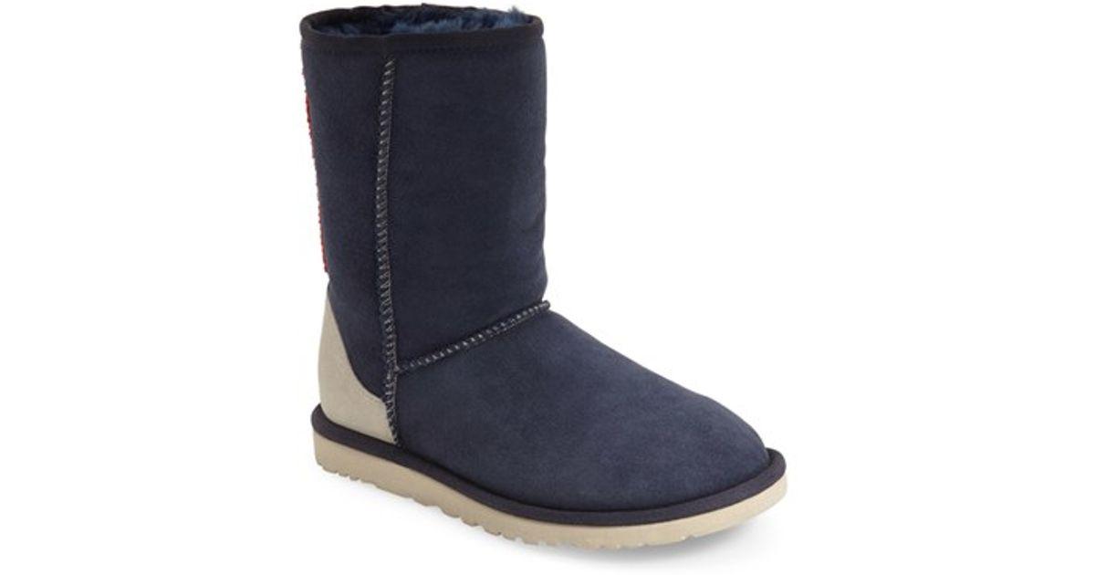 667a0fd9106 UGG Blue 'classic Short - Serape' Beaded Boot