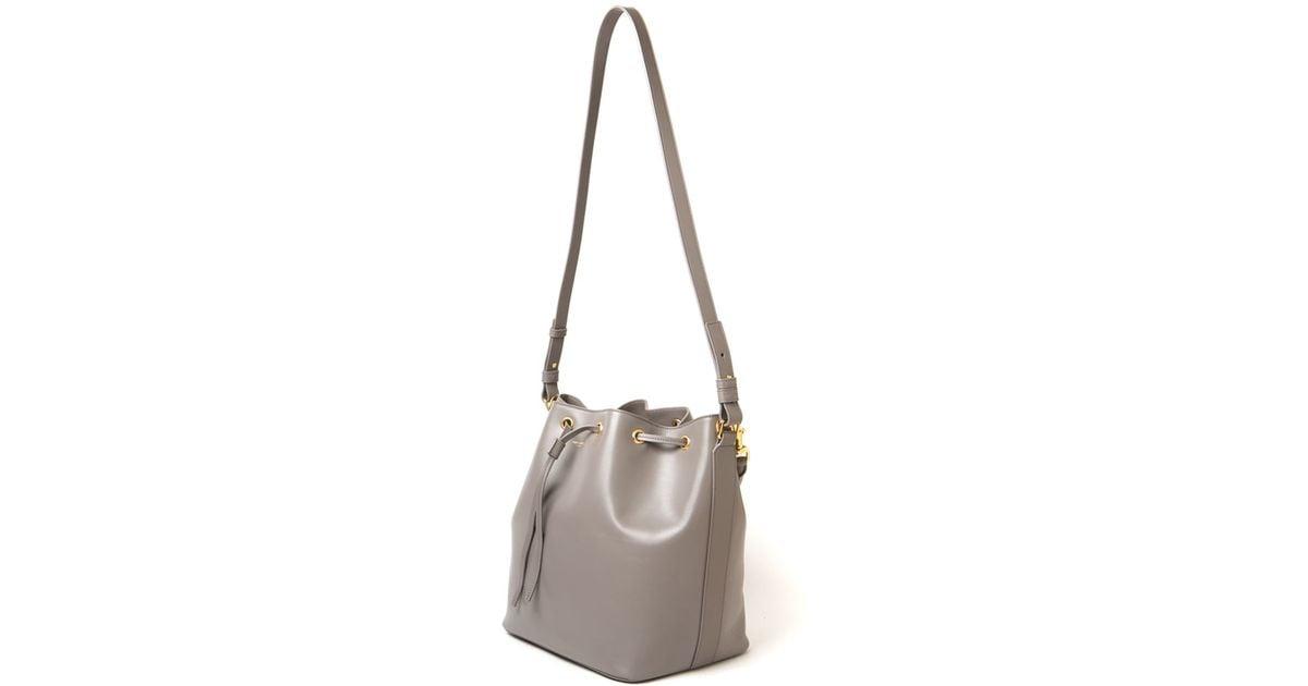 838ca746c0 Saint Laurent Medium Emmanuelle Bucket Bag in Gray - Lyst