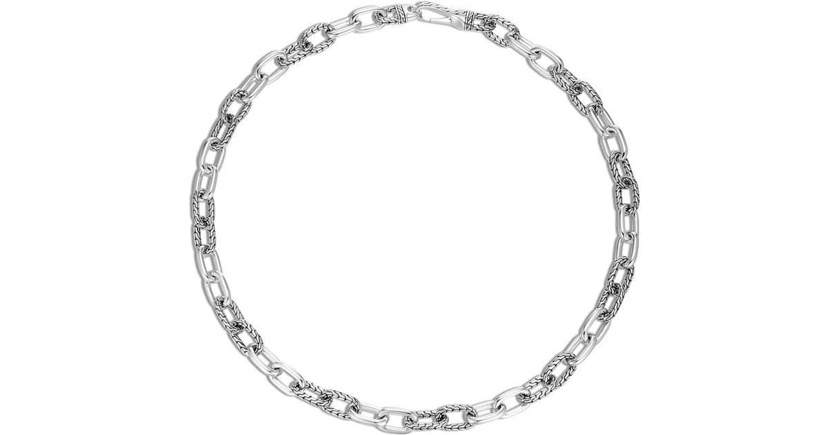 John hardy men 39 s classic chain silver necklace in metallic for John hardy jewelry factory bali