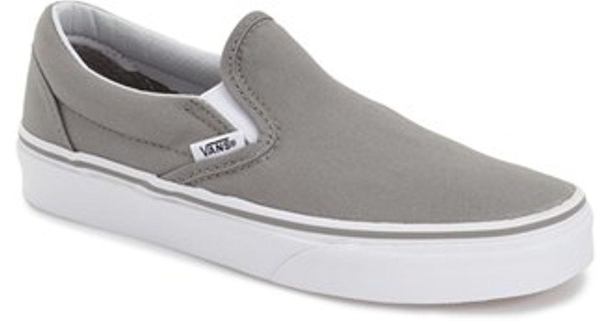 d32e8e87f72c Lyst - Vans  classic  Slip-on Sneaker in Gray