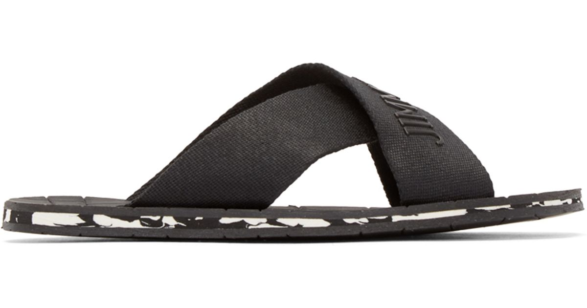 61c81642ba6a Lyst - Jimmy Choo Black Clive Sandals in Black for Men