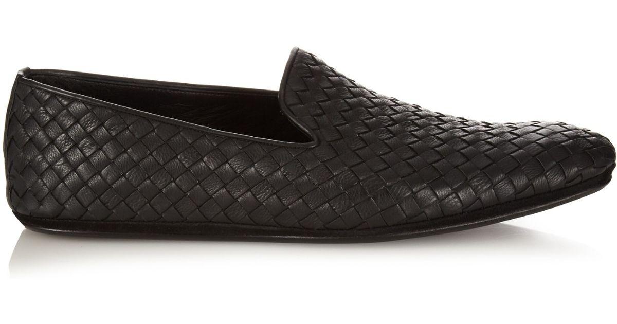 Intrecciato Leather Loafers - Black Bottega Veneta 1RBKd0e8c