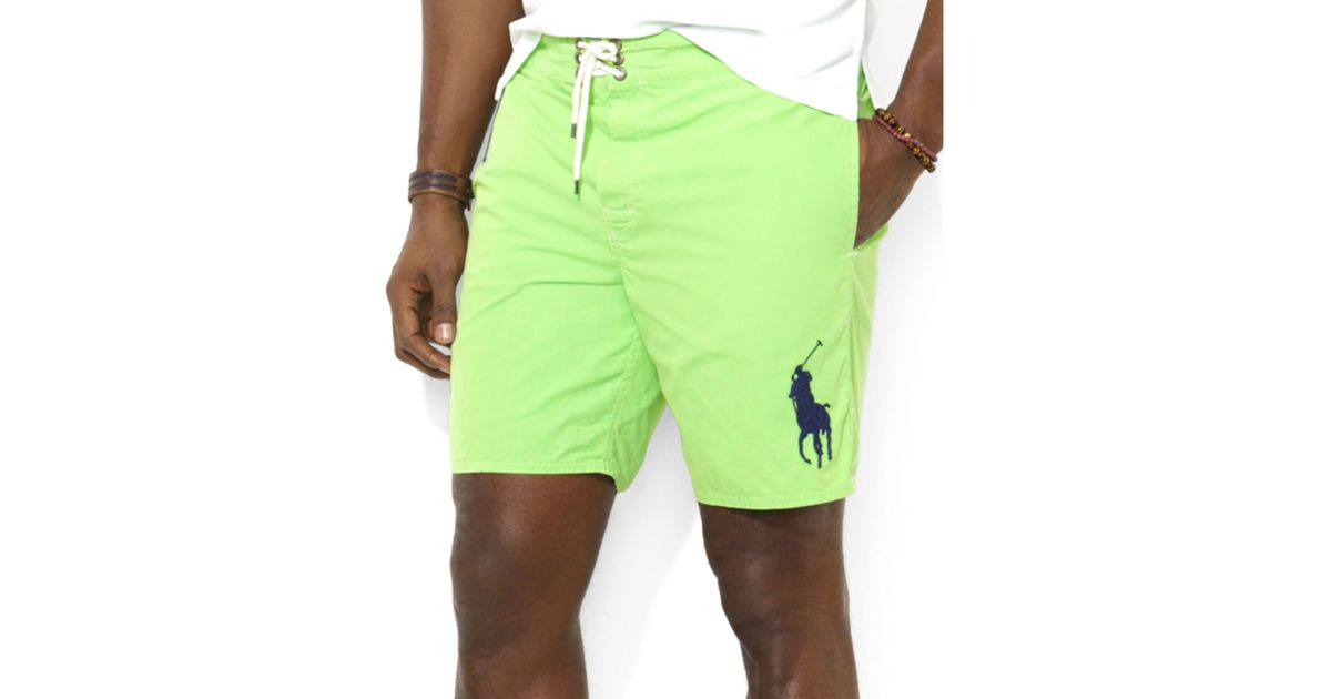 4ea4177025 ... sweden lyst ralph lauren polo big and tall sanibel swim shorts in green  for men 2fa9a