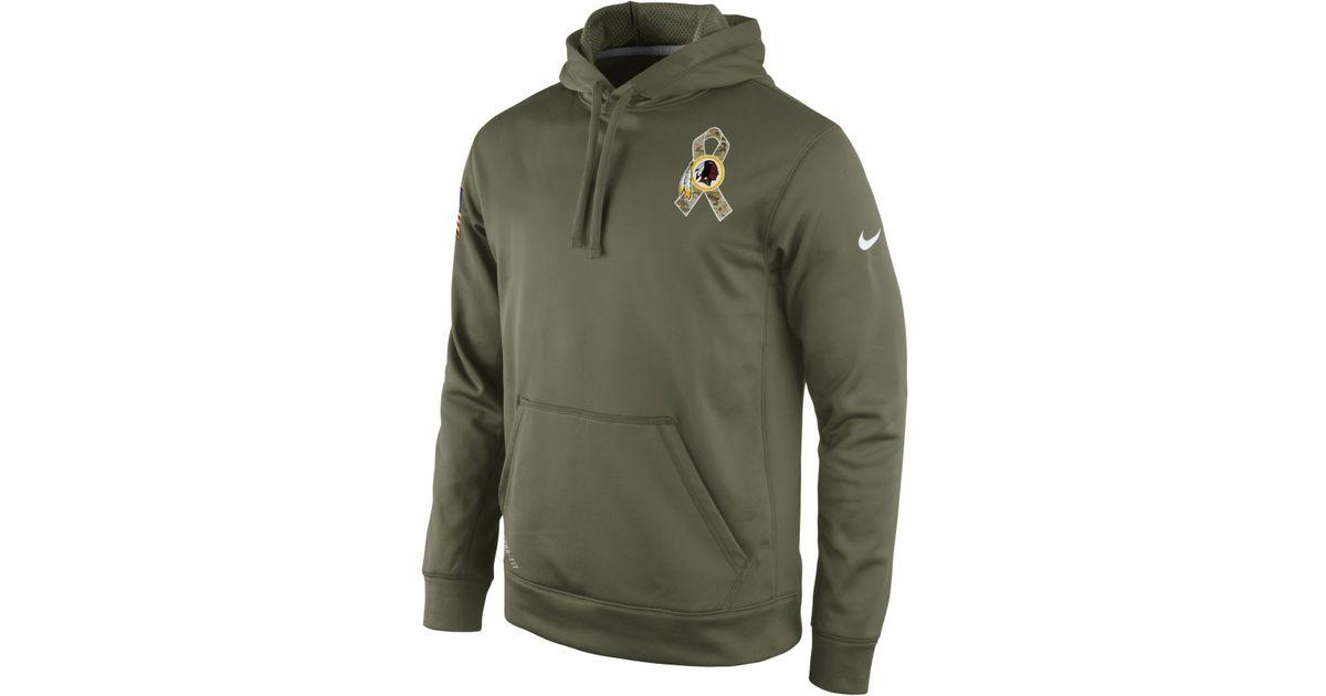 new product d9b6b 2657f Nike Green Men'S Washington Redskins Salute To Service Ko Hoodie for men