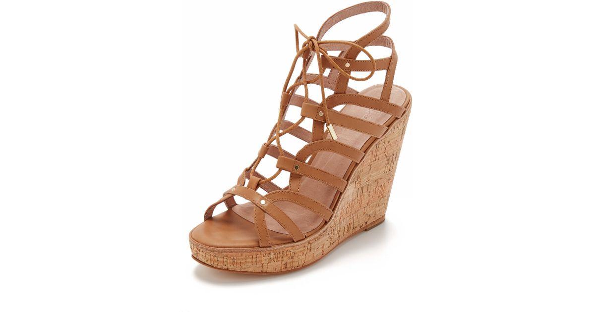 f26854ee56b7 Lyst - Joie Larissa Wedge Sandals in Brown