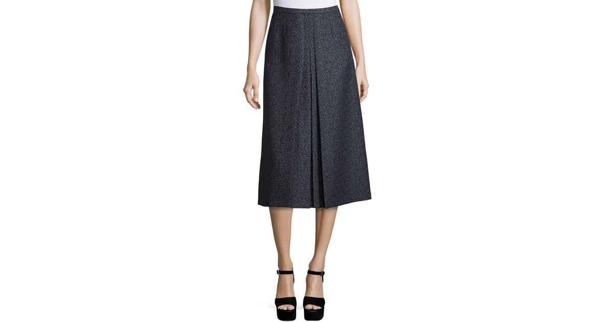 michael kors high waist a line skirt in black black