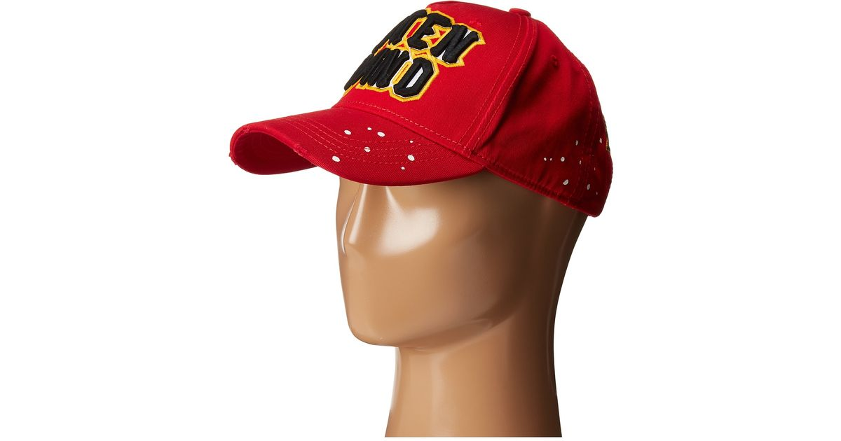 8800b82a109957 DSquared² Caten Band Baseball Cap in Red for Men - Lyst