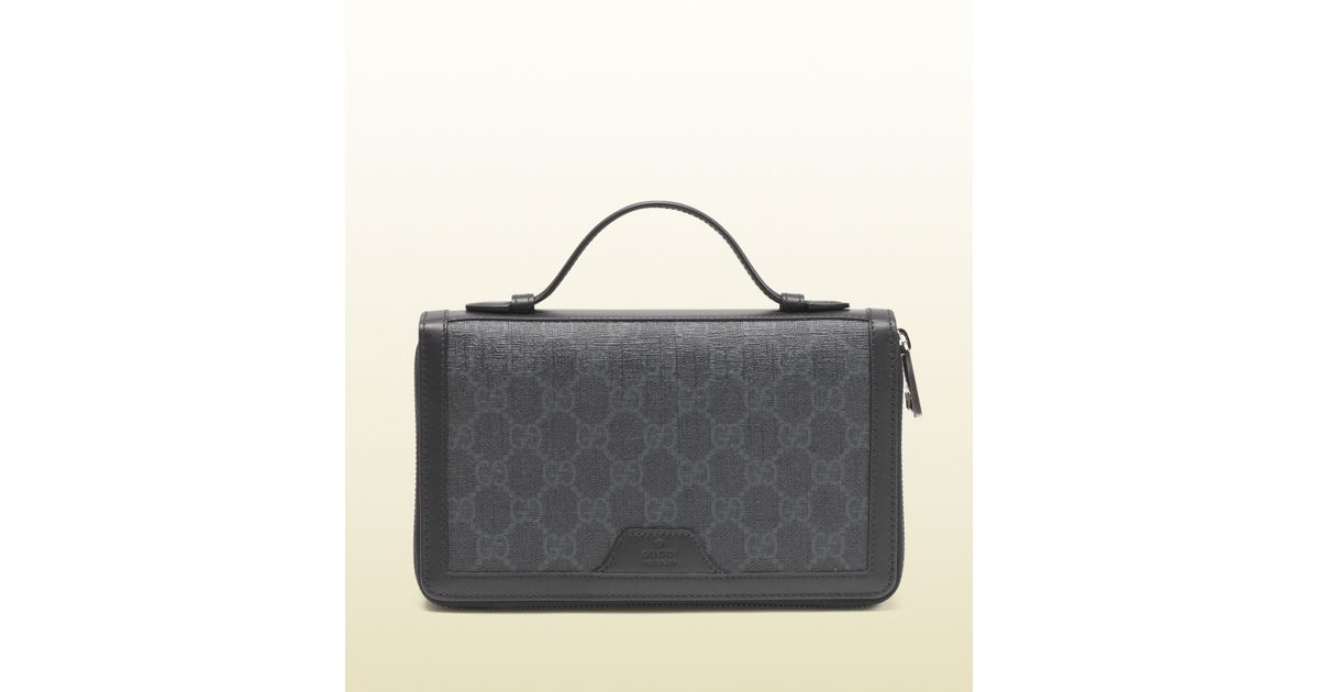 d51ab9c75db7 Gucci Gg Supreme Canvas Travel Document Case in Gray for Men - Lyst
