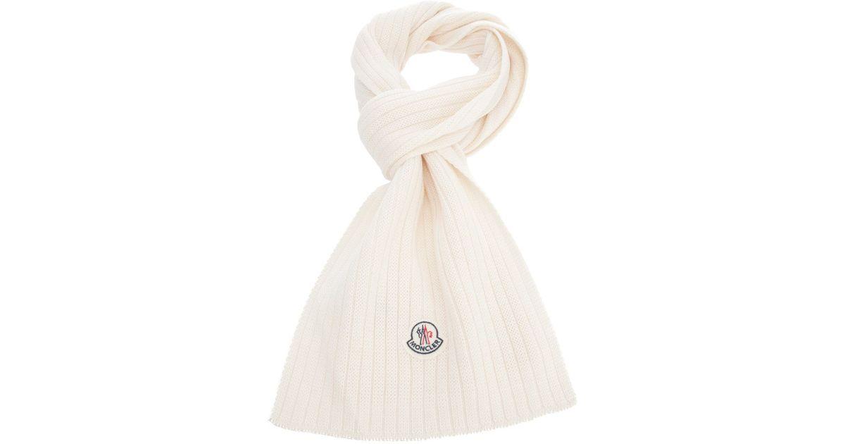 moncler scarf white