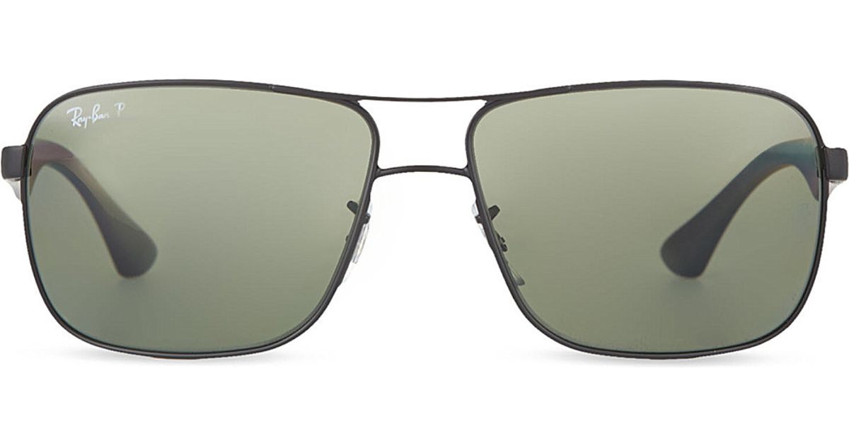 3dd039b5af9 Lyst - Ray-Ban Rb3516 Matte Square Sunglasses in Black
