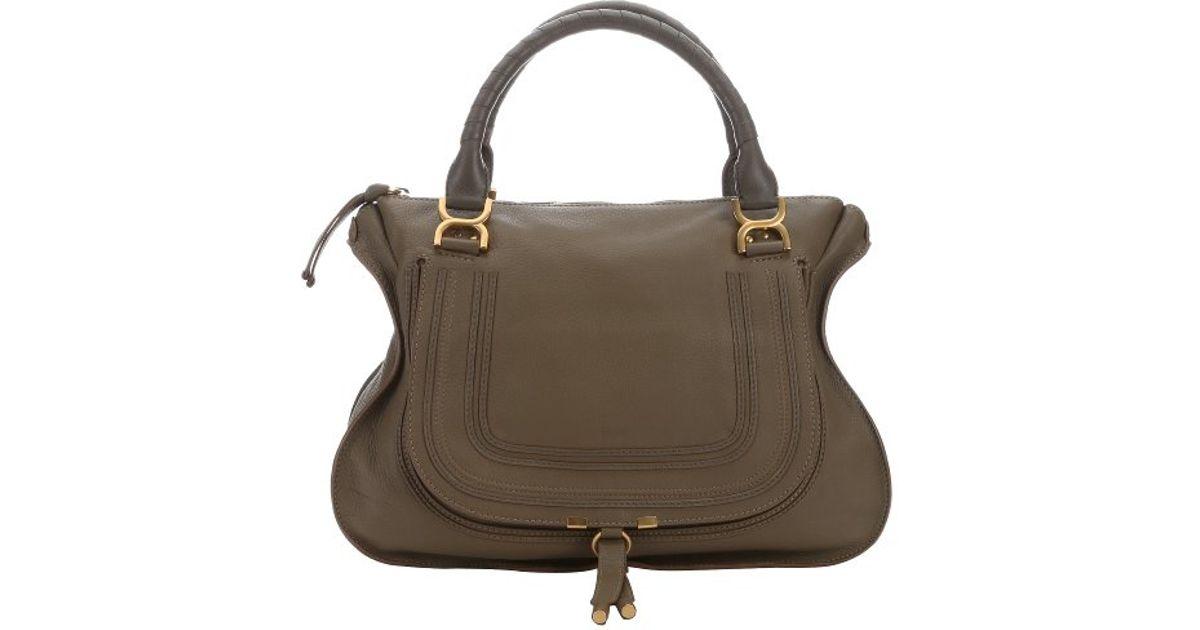 Chloe Calfskin Large Marcie Satchel Anchor Grey Buy Chloe Bags Online