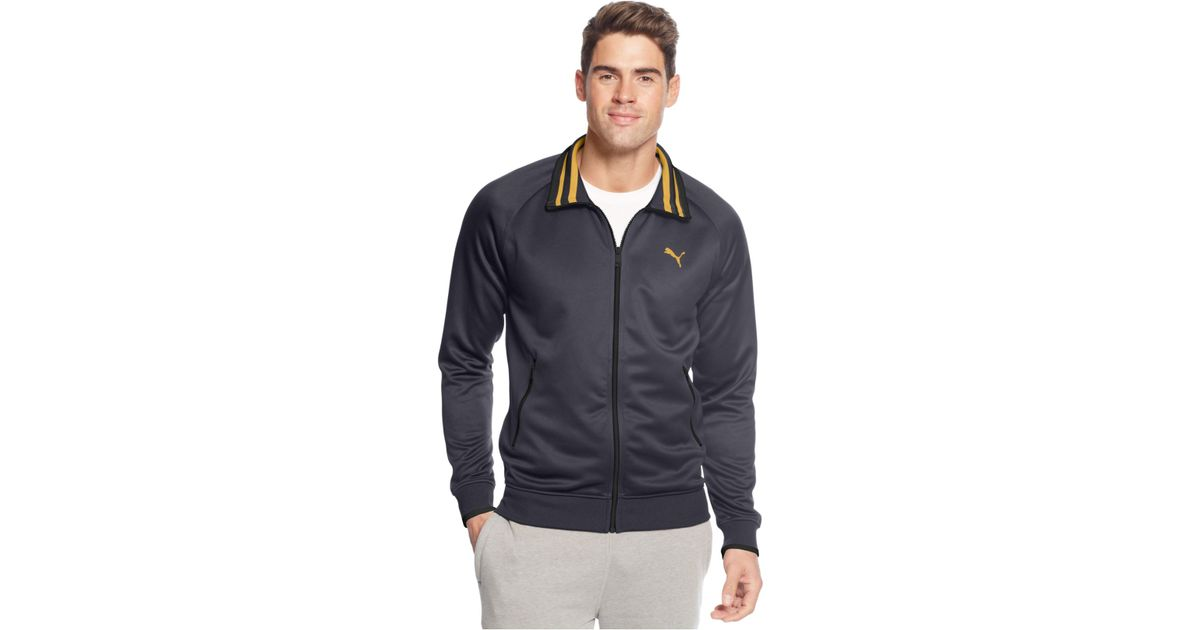400ee7e4921c Lyst - PUMA Full-Zip Tricot Track Jacket in Gray for Men