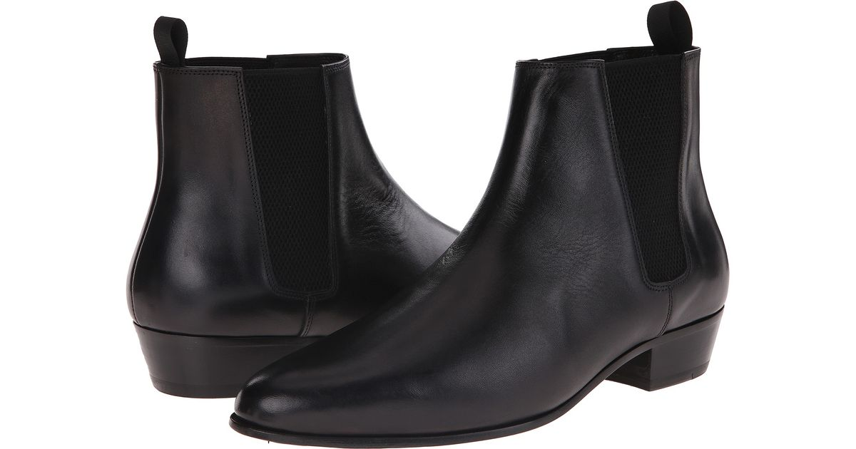 1eaf02cab2a The Kooples Black Smooth Leather Chelsea Boot for men