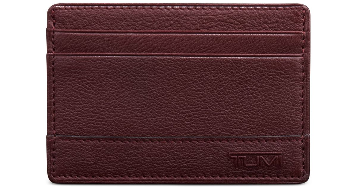 Lyst - Tumi Rivington Slim Card Case Id Wallet in Red for Men