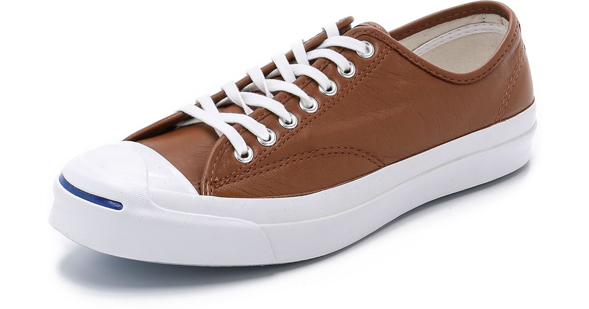 142356d62402a2 Lyst - Converse Jack Purcell Signature Leather Sneakers in Brown for Men