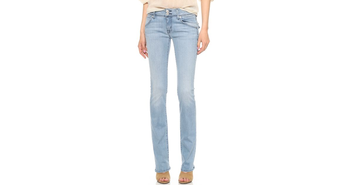 Hudson Jeans Beth Mid Rise Baby Bootcut Jeans Indian