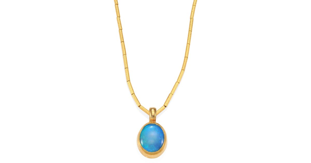 Lyst gurhan amulet hue small aquamarine 24k yellow gold pendant lyst gurhan amulet hue small aquamarine 24k yellow gold pendant necklace in blue aloadofball Images