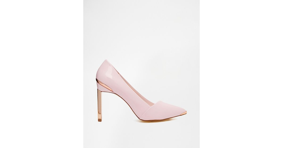 Lyst - Ted Baker Naretta Light Pink Patent Heeled Shoes in Metallic