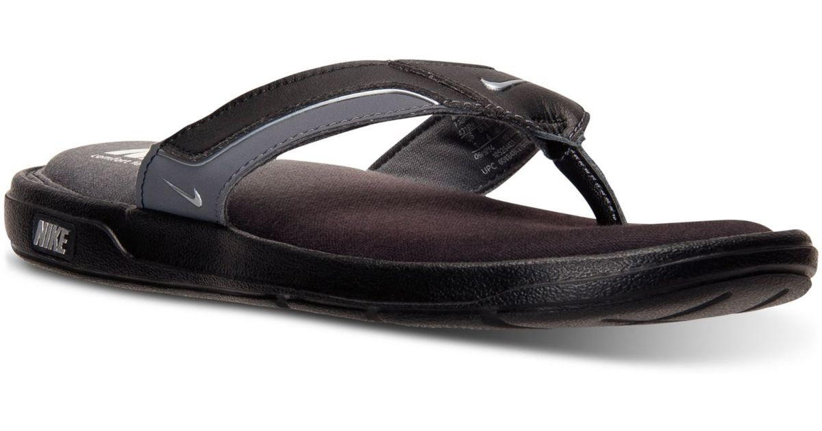 b56f539d8a8 Lyst - Nike Men s Solarsoft Comfort Thong Sandals From Finish Line in Black  for Men