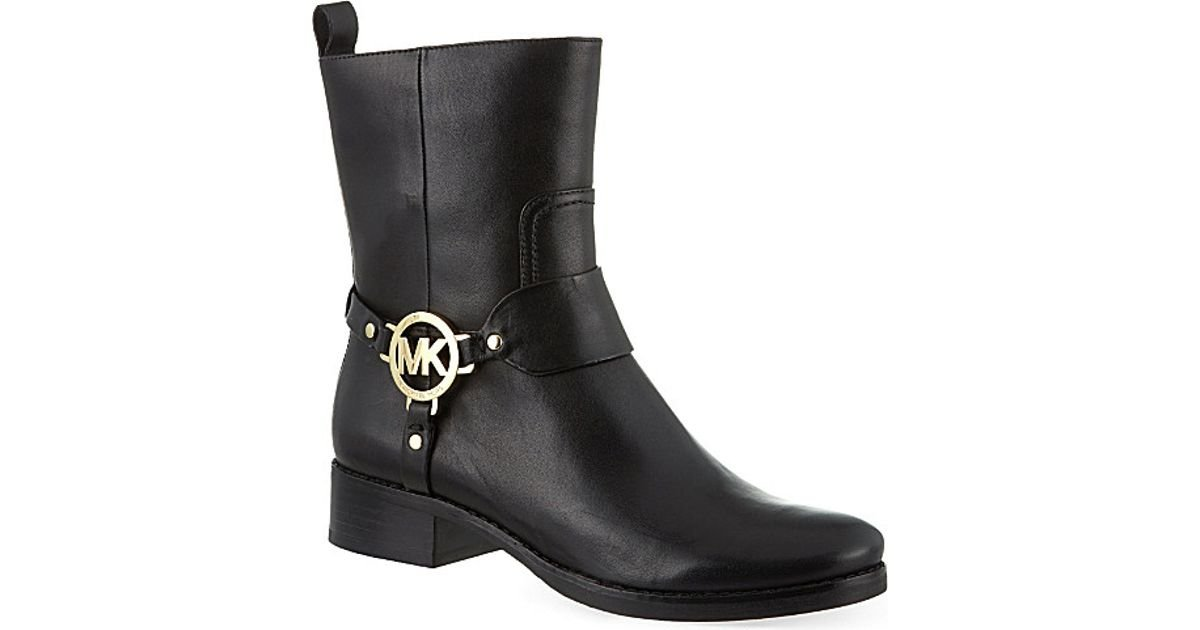 Lyst - Michael Michael Kors Fulton Harness Ankle Boots in Black