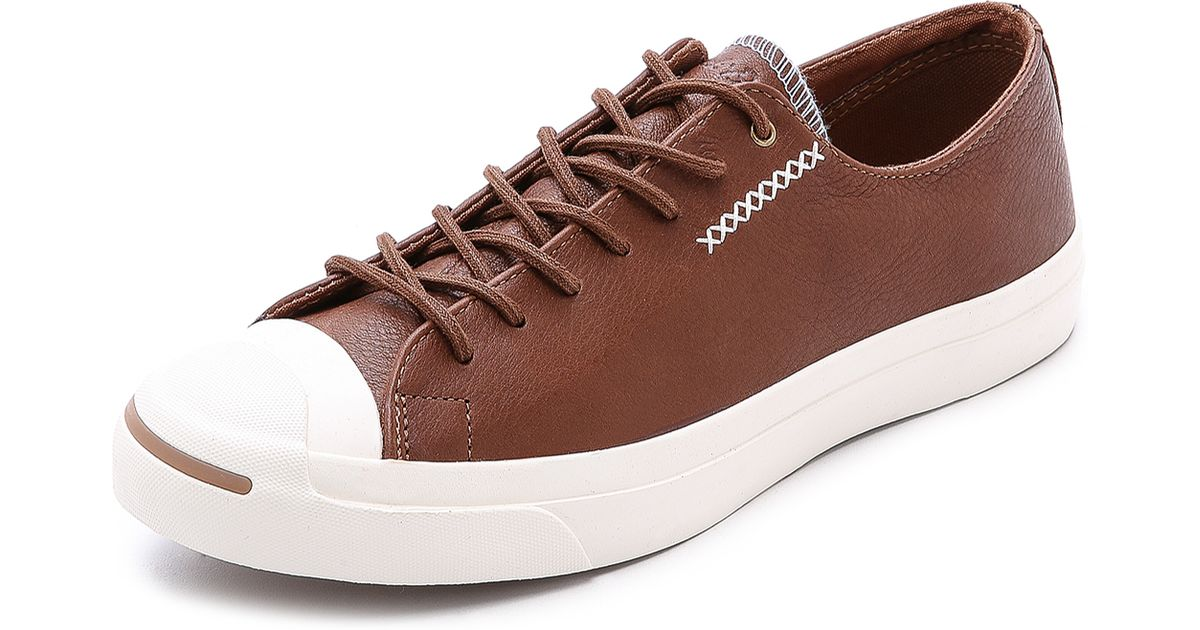 b40036e163be Lyst - Converse Jack Purcell Cross-Stitch Sneakers in Brown for Men