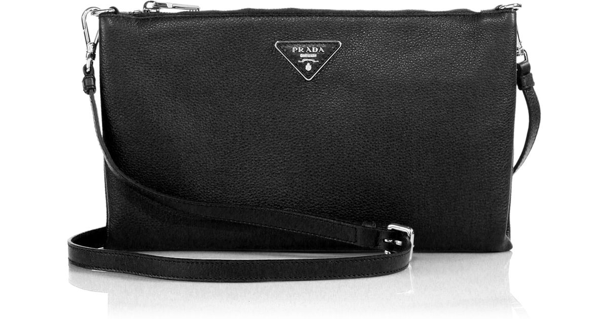 prada saffiano promenade handbag nero - Prada Daino Crossbody Bag in Black | Lyst