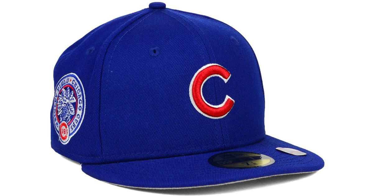 2544a9b3f41 Lyst - Ktz Chicago Cubs Stadium Patch 59fifty Cap in Blue for Men