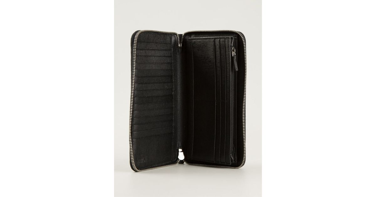 1dfee60ff42e Fendi Zip Around Wallet in Blue for Men - Lyst