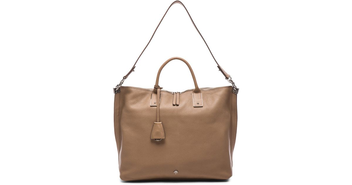 ... usa lyst mulberry alice zipped tote in brown efb8e 958e8 96066a20c22b8