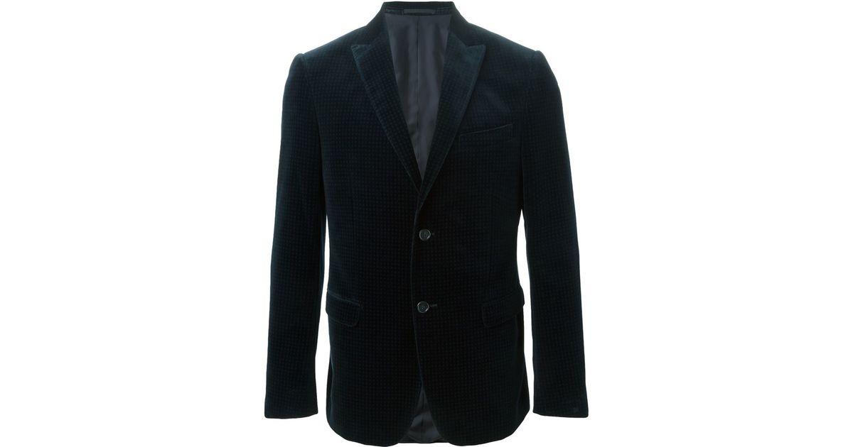 8ea2a280 Z Zegna - Black Casual Velvet Blazer for Men - Lyst
