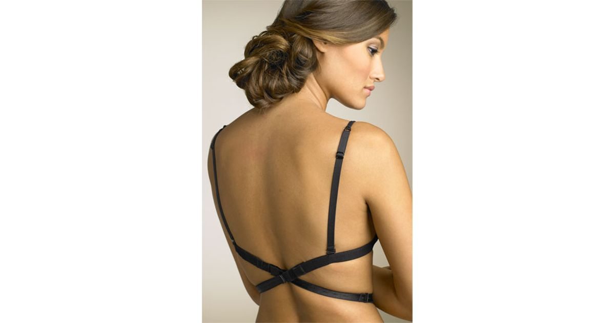 a750c4057257c Lyst - Nordstrom Low Back Strap 1-hook Bra Attachment in Black