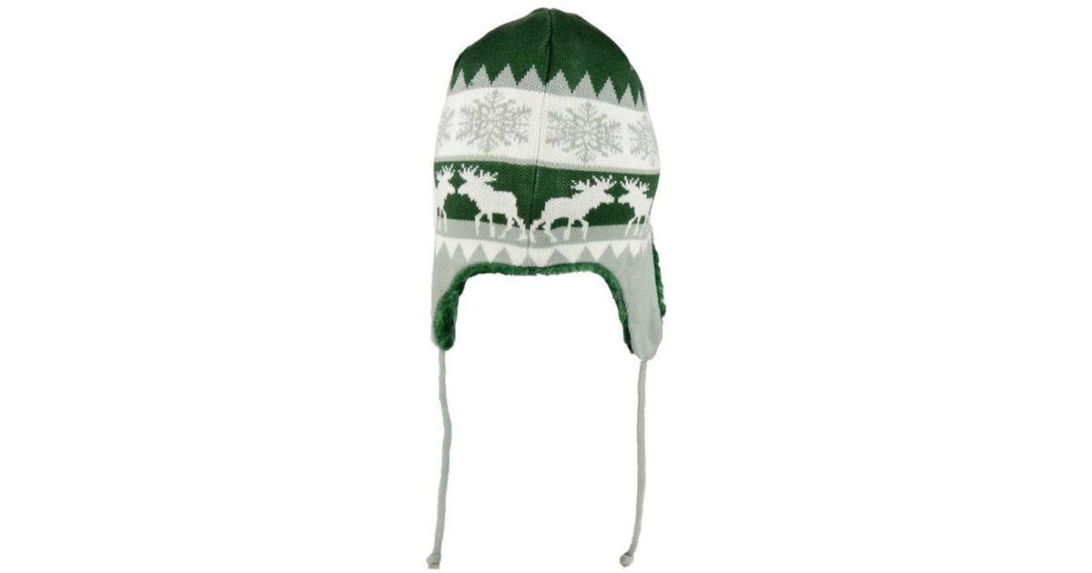 cf900e29 KTZ Green New York Jets Moose Trapper Knit Hat for men