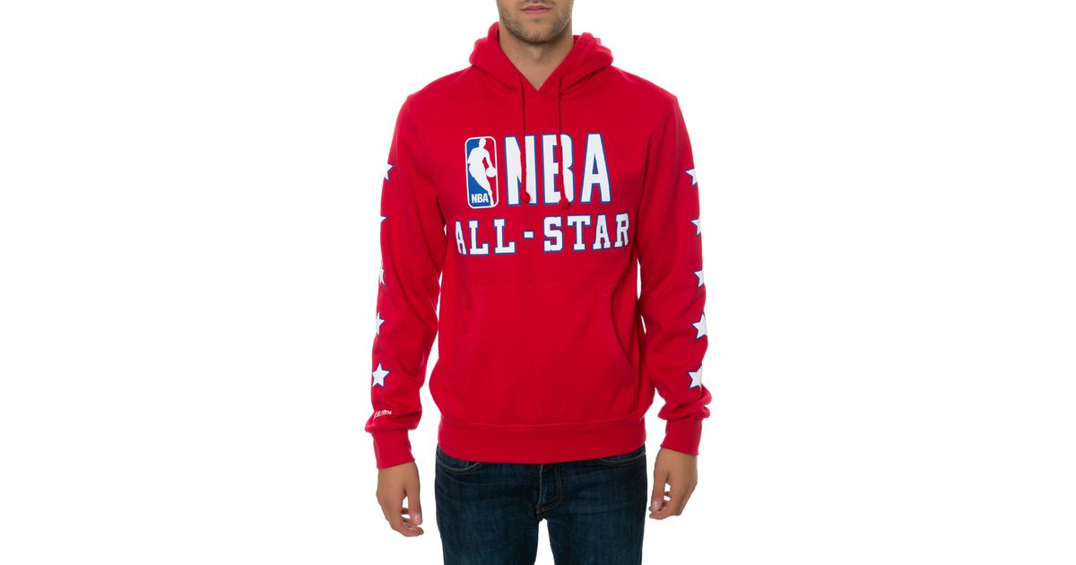 Lyst - Mitchell   Ness The 89 Nba All Star Hoodie in Red for Men 3bbd696d7