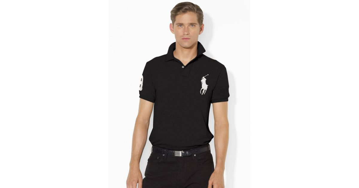 lyst polo ralph lauren slim fit polohemd mit big pony in. Black Bedroom Furniture Sets. Home Design Ideas