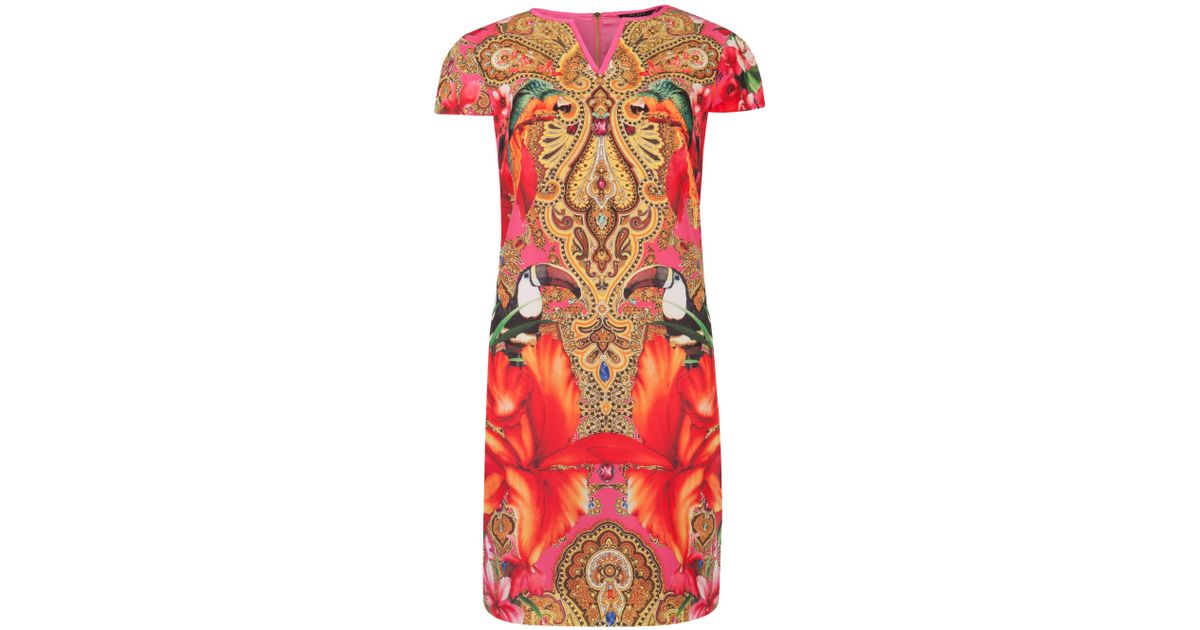 729bab6eea1347 Ted Baker Tunic Dress In Paisley Toucan Print in Pink - Lyst