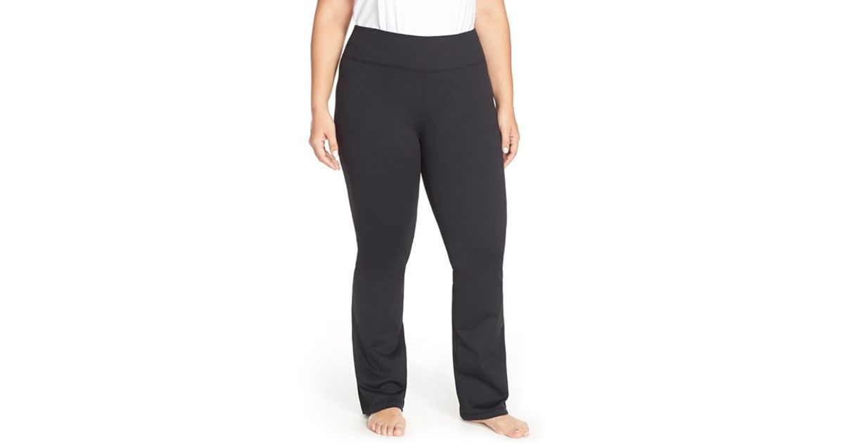 166db3561c6 Lyst - Zella Barely Flare Booty Stretch-Jersey Pants in Black