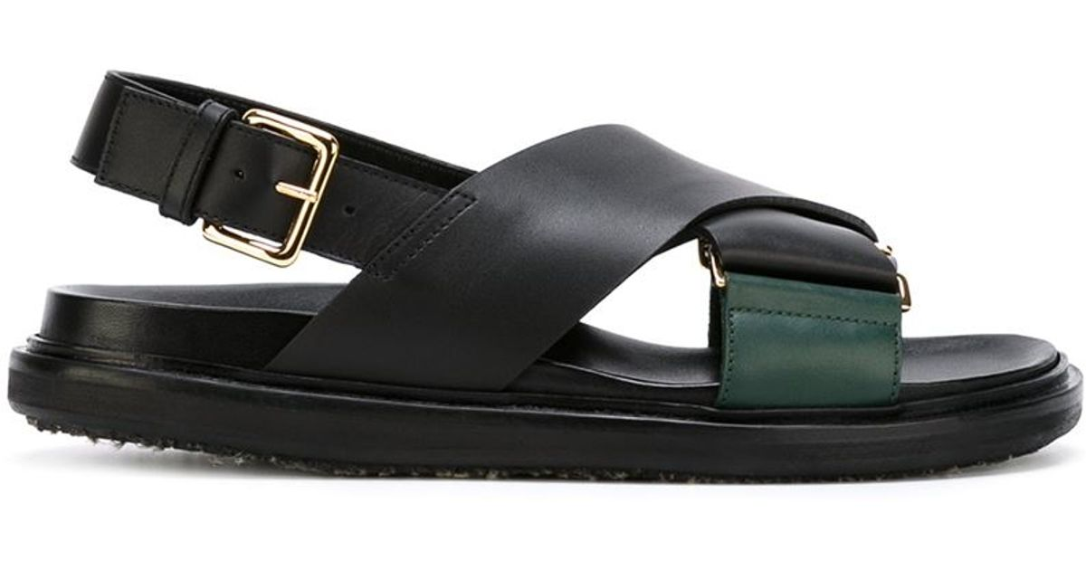 Marni Fussbett Black Fussbett Sandals Leather Black Fussbett Marni Marni Black Sandals Leather dWBeCrxo