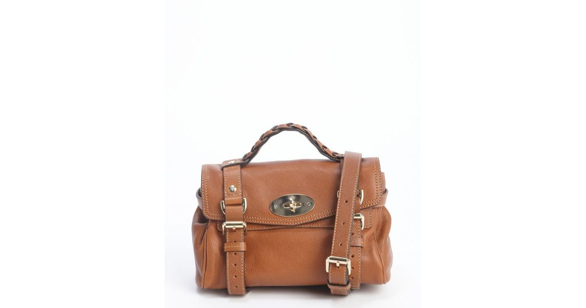 Lyst - Mulberry Oak Leather Mini Alexa Small Convertible Satchel in Brown 1d5e749a6dbe9