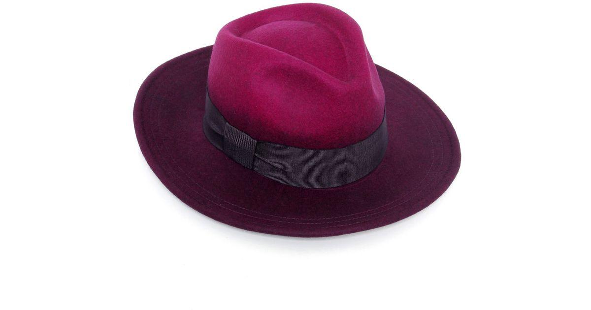 5f52aa2a0fcf7f Lyst - Paul Smith Degrade Wool Fedora Hat in Purple