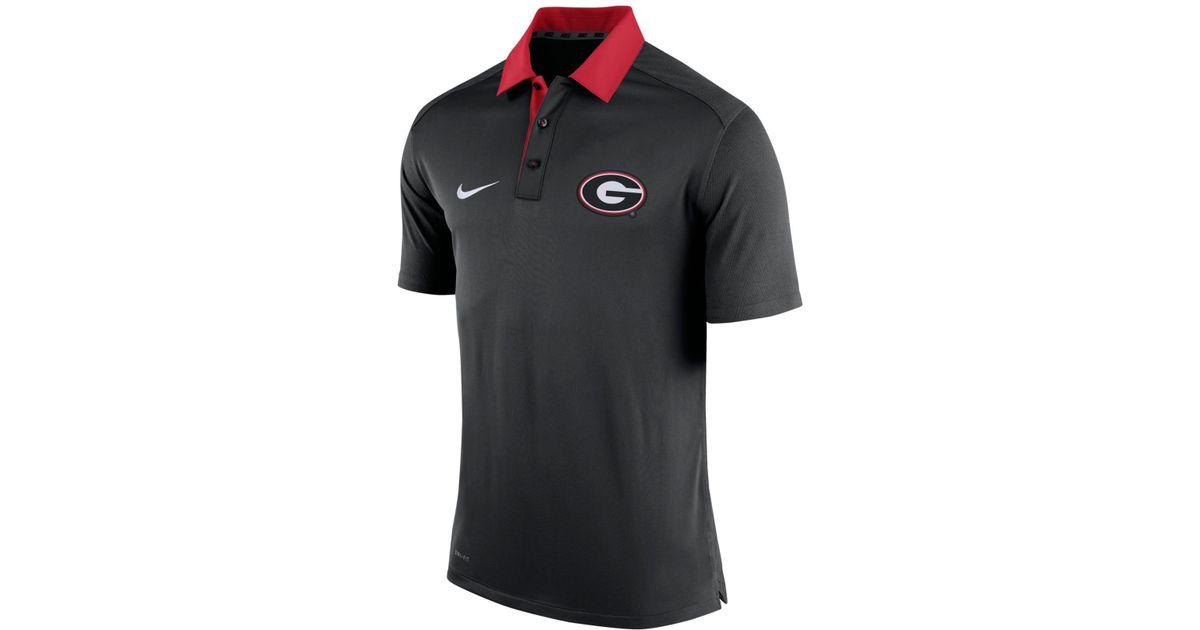 Nike Men 39 S Georgia Bulldogs Elite Coaches Polo In Black