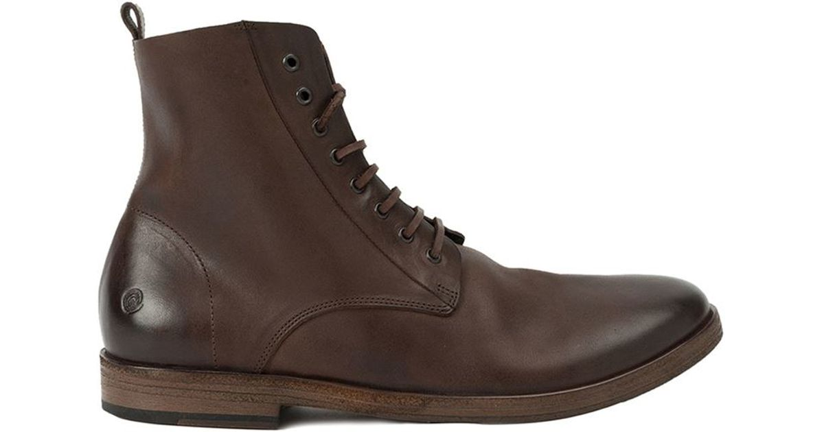 mars 232 ll mars 232 ll lace up ankle boots in brown for lyst
