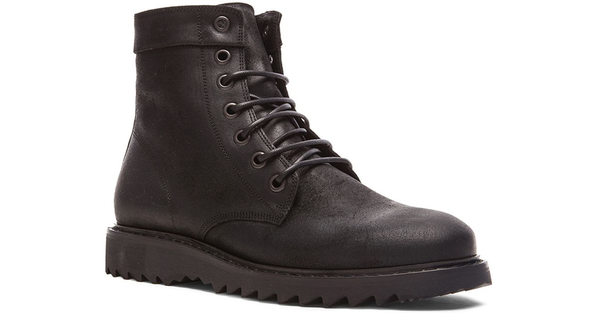 marc leather combat boots in black lyst