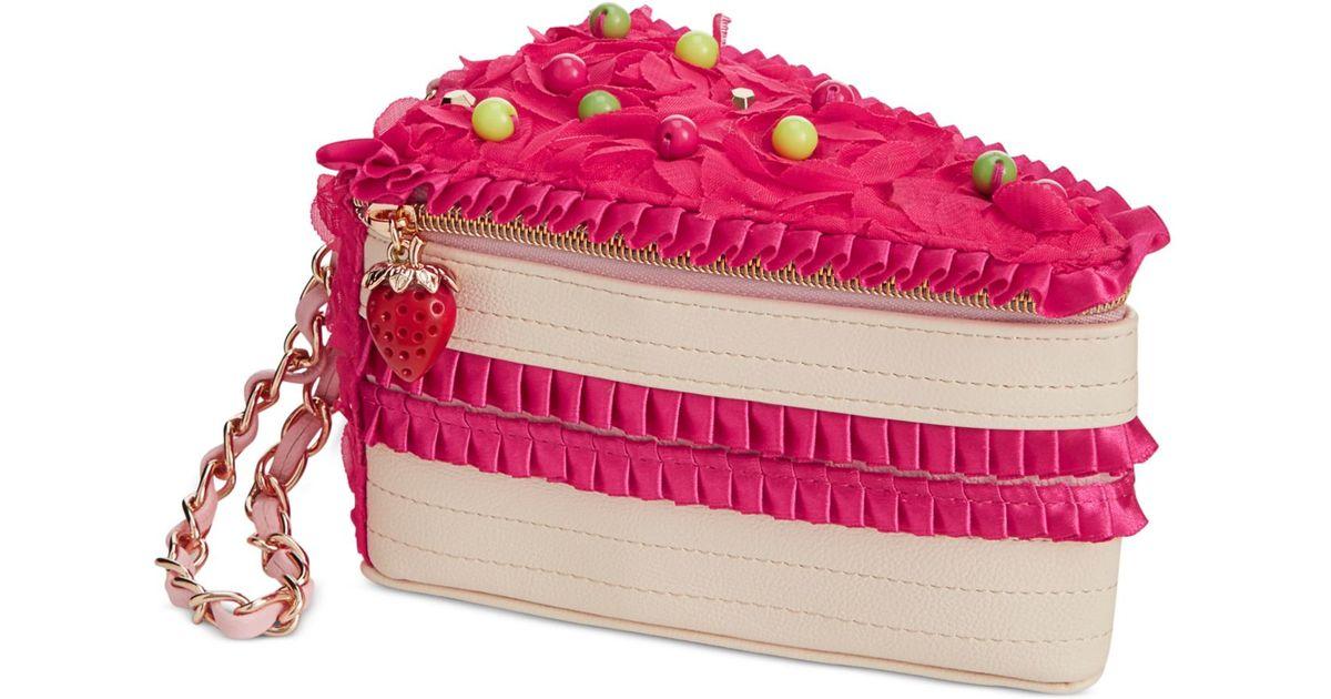 Betsey Johnson Pink Cake Wristlet