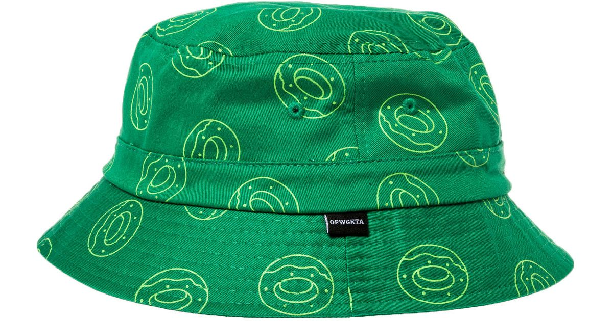 fb684a25938283 Lyst - Odd Future The Single Donut All Over Bucket Hat in Green for Men