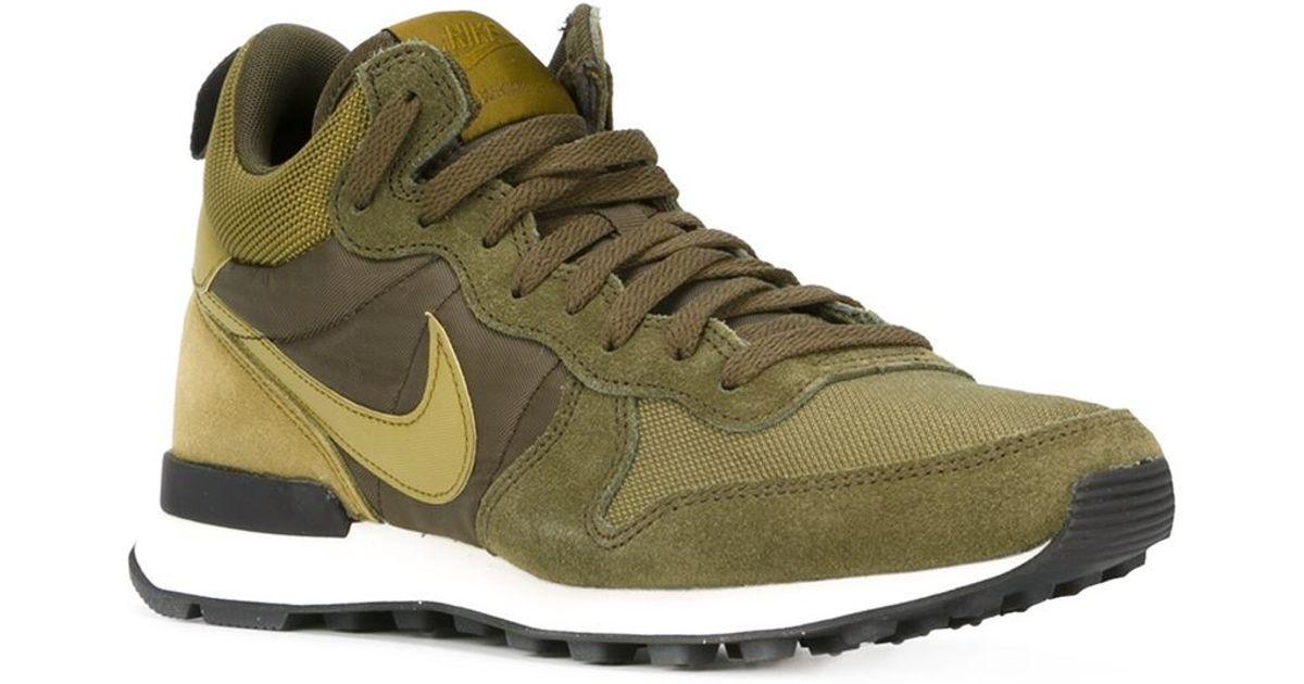 Nike Internationalist Mid Suede Mid-Top Sneakers in Green for Men ...