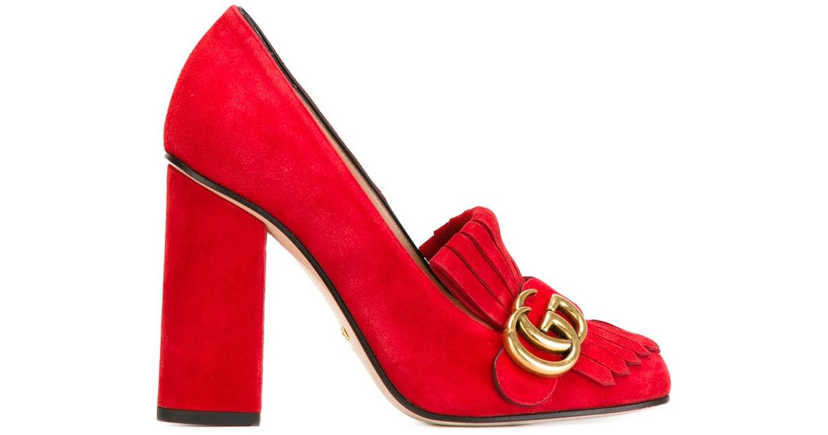 Lyst - Gucci Shoes With Fringes Details And Double G in Red 2b2e3bfff