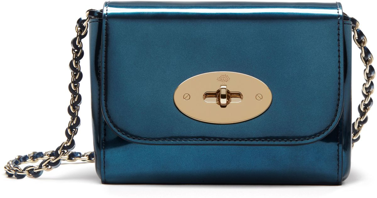 Mulberry Lily Mini Leather Cross-body Bag in Blue - Lyst 125a612e03