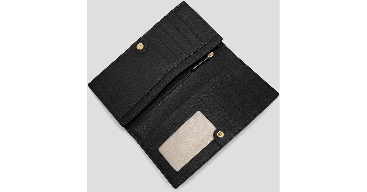 ad492b7febaf Lyst - MICHAEL Michael Kors Wallet - Large Slim Continental Snap in Purple