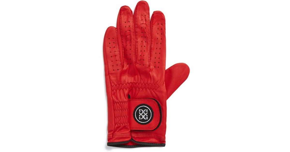 G/FORE 'cadet' Leather Golf Glove - Left Hand in Scarlet